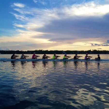 Women's Eight training