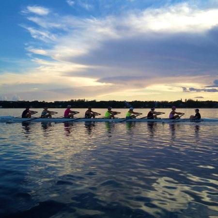 Women's Eight training
